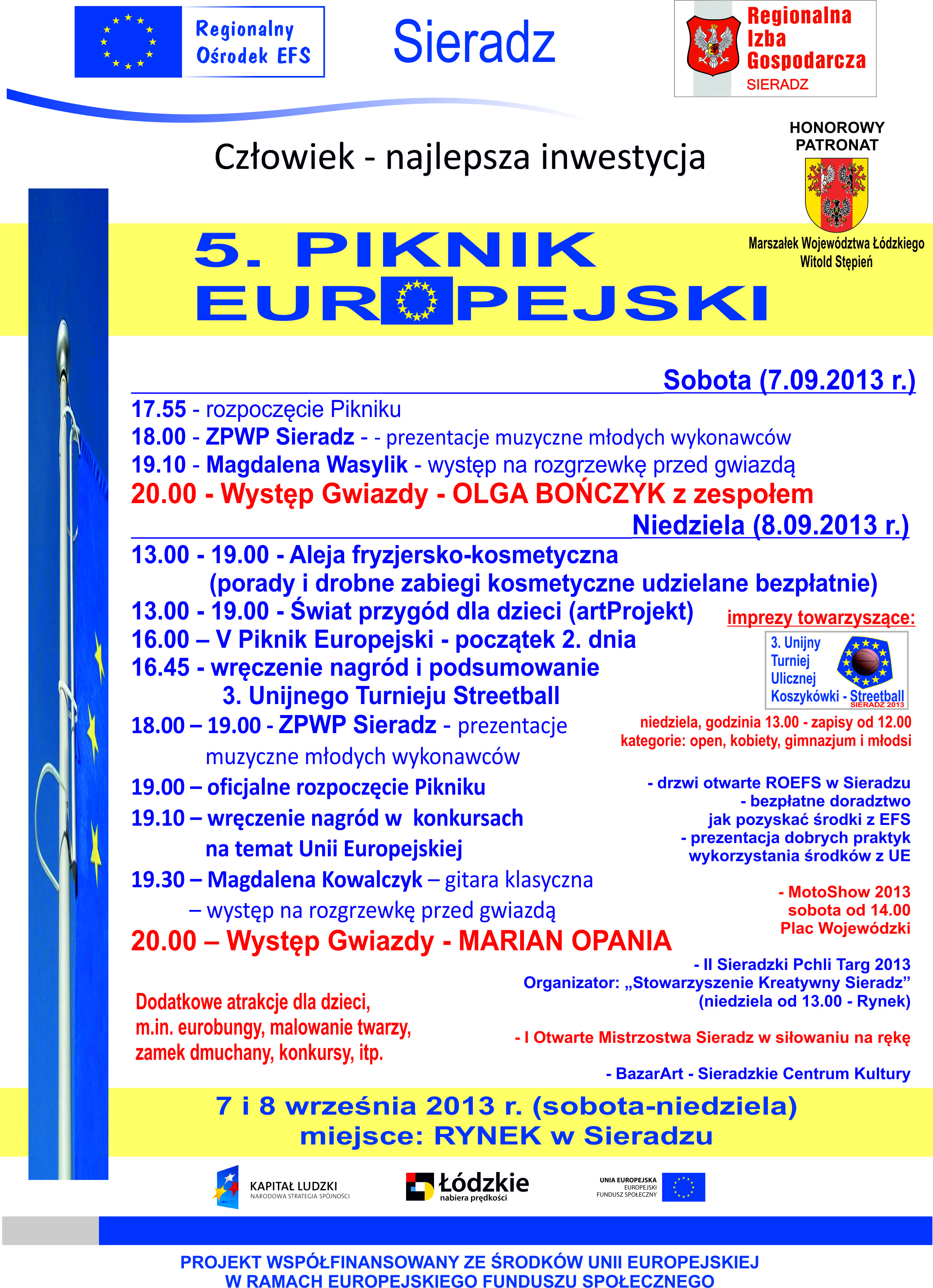 V Piknik Europejski plakat